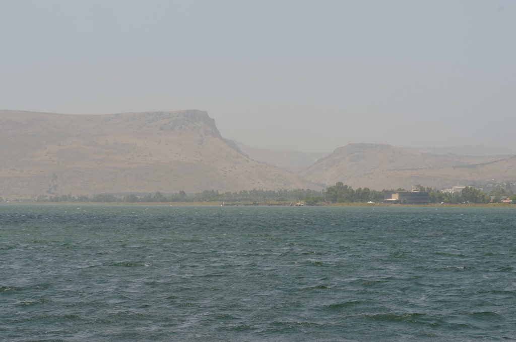 From the boat on the Sea of Galilee